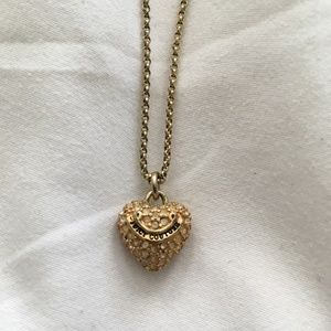 Juicy Couture Gold Heart Pendant Necklace